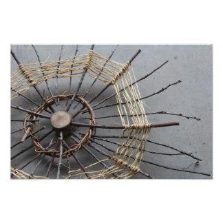 Natural String & Wood Sculpture Photo Oblique