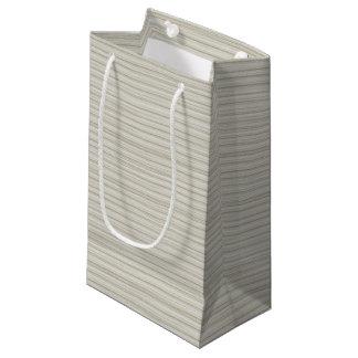 Natural stripes small gift bag