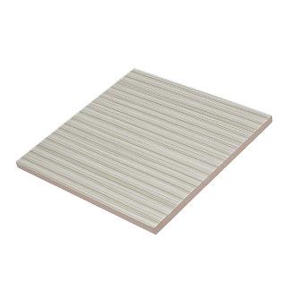 Natural stripes small square tile