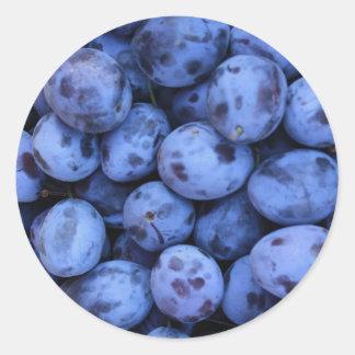 Natural Textures - Blueberries Classic Round Sticker