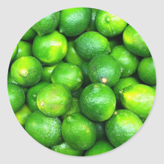 Natural Textures - Limes Classic Round Sticker