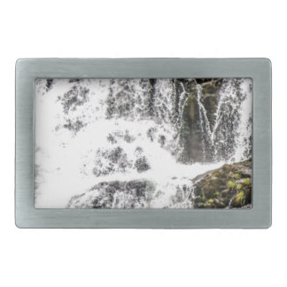 Natural water flows rectangular belt buckle