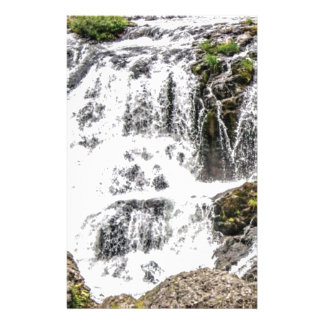 Natural water flows stationery