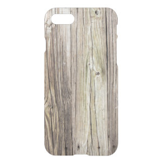 Natural Weathered Wood Boards from Old Dock iPhone 7 Case