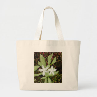 Natural White Beautiful Flower Jumbo Tote Bag