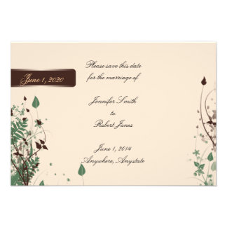Natural Wonder Ivory Brown Wedding Save the Date Announcements