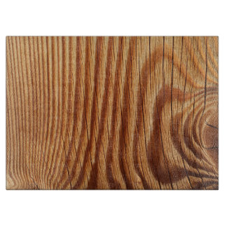 Natural Wood Look- Glass Cutting Board - HAMbyWG