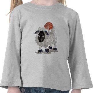 Natural Wool Cat Nap Sumi-e T-shirt