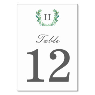 Natural Wreath Table Number Table Cards