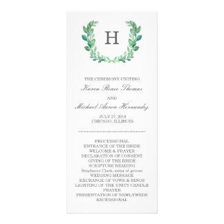 Natural Wreath Wedding Program Rack Card