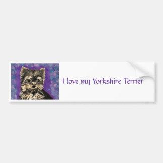 Natural Yorkie bumper sticker