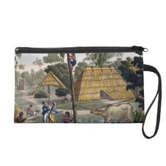 Naturalists question natives near Kupang, Timor, p Wristlet Clutch