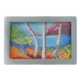 Naturally colorful belt buckles