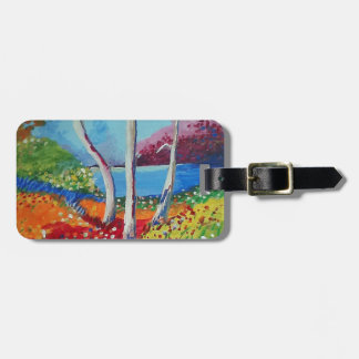 Naturally colorful luggage tag