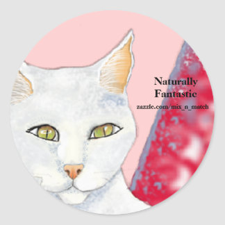 Naturally Fantastic Logo - Cosmo Round Sticker
