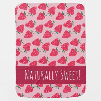 Naturally Sweet Strawberry Baby Girl blanket