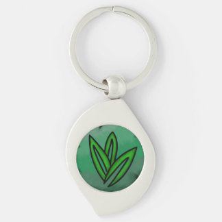Nature Affinity Swirl Keychain Silver-Colored Swirl Key Ring