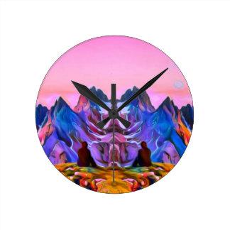 Nature Art Rave Round Clock