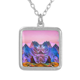 Nature Art Rave Silver Plated Necklace