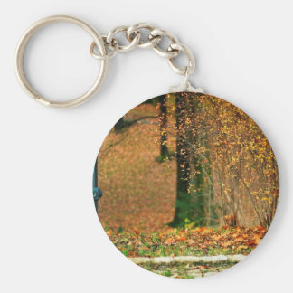 Nature Autumn Into The Woods Keychain