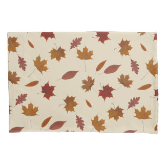 Nature Autumn Leaves on Cream Custom Color Pillowcase