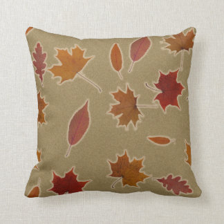 Nature Autumn Leaves with Glow on Custom Color Cushion
