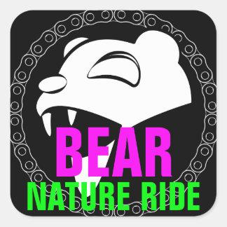Nature Bear Square Sticker