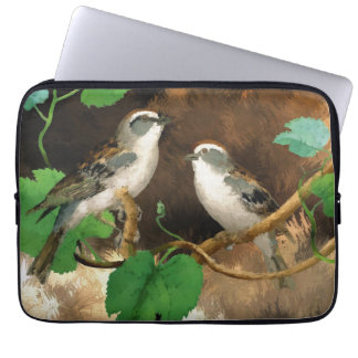 "Nature Birds Sparrows Abstract, 13"" Laptop Sleeve"