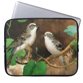 "Nature Birds Sparrows Abstract, 15"" Laptop Sleeve"