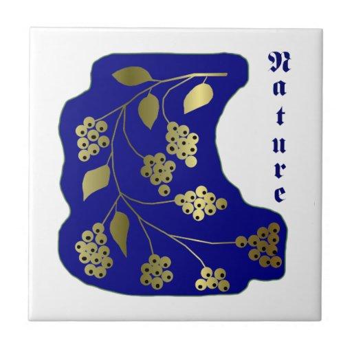 Nature blue ceramic tile