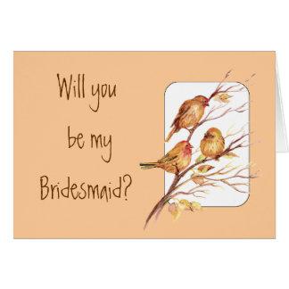 Nature Bridesmaid Invitation Card