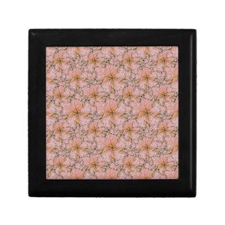 Nature Collage Print Small Square Gift Box