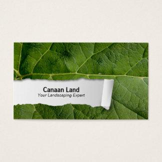 Nature Customizable Leaf Closeup Business Card