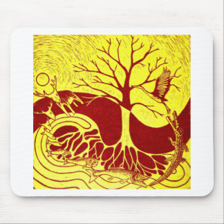 Nature Cycle Yellow Mouse Pad