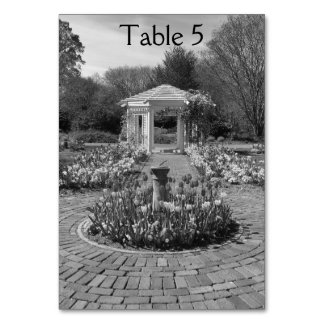 Nature design white gazebo table numbers