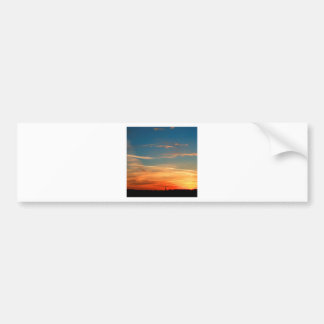 Nature Dusk Hot And Cold Bumper Stickers