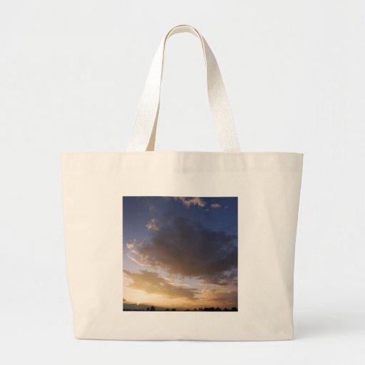Nature Dusk Setting Skies Canvas Bags