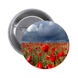 Nature Field Poppy Memories Pinback Button