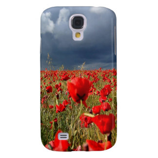 Nature Field Poppy Memories Samsung Galaxy S4 Case