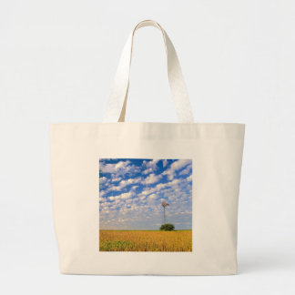Nature Field Two Makes One Tote Bags