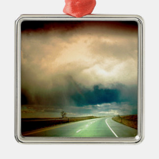 Nature Forces The Storm Looming Ahead.jpg Metal Ornament