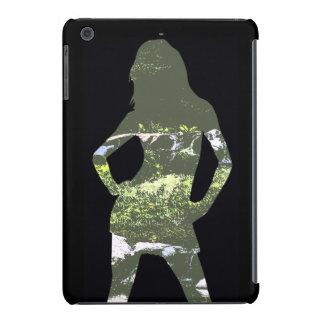 Nature Girl Silhouette iPhone Case iPad Mini Case