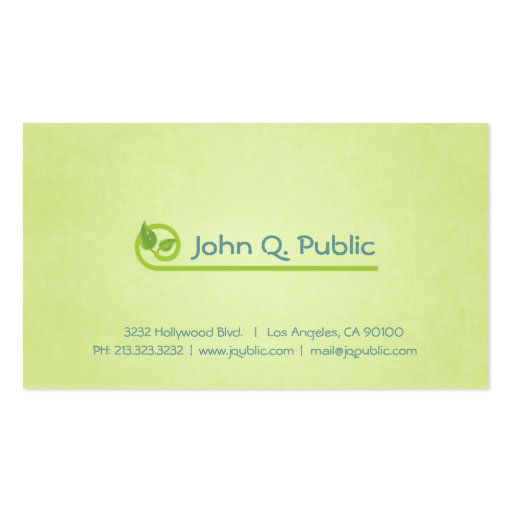 Nature Green Leaves Business Card