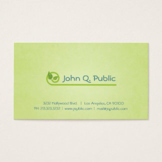 Nature Green Leaves Spa Beauty Salon Business Card