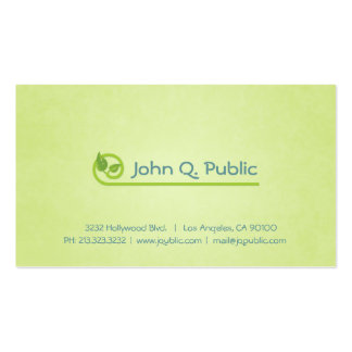 Nature Green Leaves Spa Beauty Salon Pack Of Standard Business Cards