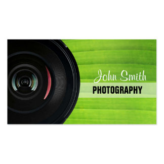 Nature Green Stripe photography business card