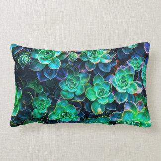 Nature Green Succulent Photo Lumbar Cushion