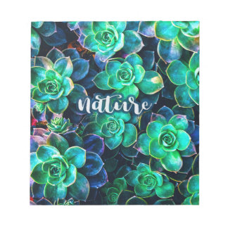 Nature Green Succulent Photo Notepad