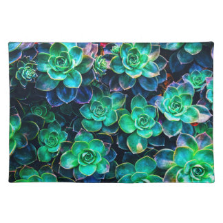 Nature Green Succulent Photo Placemat