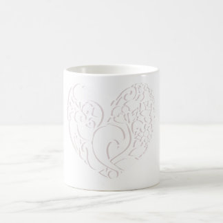 Nature heart design coffee mug